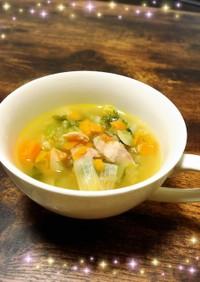 セロリが美味しいふわふわ野菜スープ