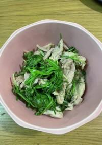 セセリと水菜炒め。
