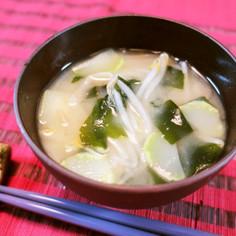 節約☆ブロッコリーの茎の味噌汁