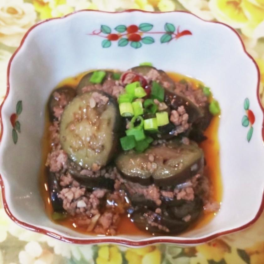 豆板醤と唐辛子味の麻婆茄子です。