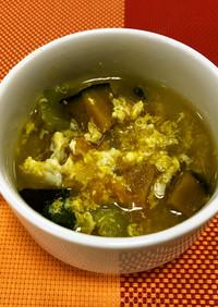 卵入りカレースープ