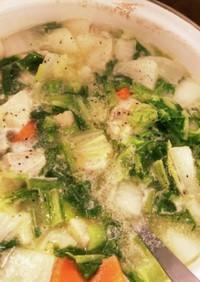 カブと鶏肉のスープ