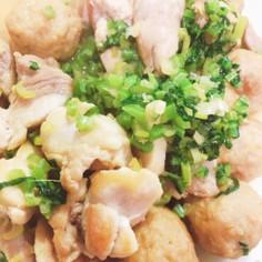 鶏と肉団子炒め
