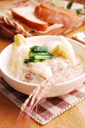 鶏肉とかぶの雑穀ミルクスープ