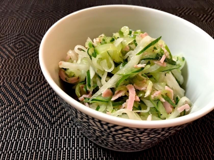 胡瓜と大根のさっぱり和風サラダ