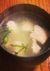 お手軽美味しい☆エノキのすまし汁
