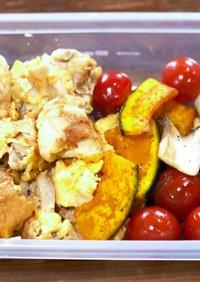 鶏モモ肉ピカタと野菜のグリル