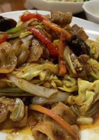 八丁味噌タレで回鍋肉