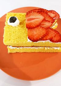 カステラで作るこいのぼりケーキ