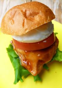 レンジで作れる!照り焼きチキンバーガー