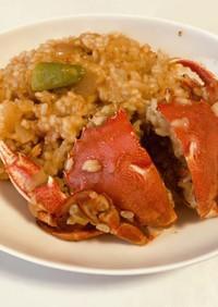 丸蟹(渡蟹)のトマト豆乳リゾット