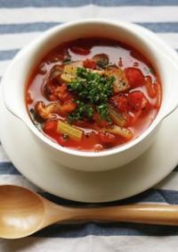 代謝向上♪具沢山のオリジナルトマトスープ