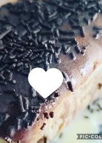 練乳がけココアケーキ