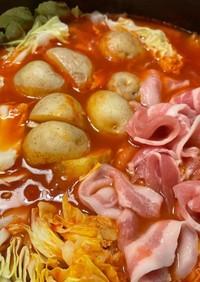 時短!新じゃがと春キャベツのトマト鍋