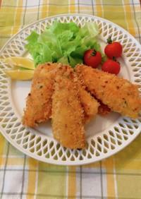 白身魚の変わりパン粉フライ