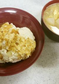 鶏と豆腐のつくね&大根と卵の味噌汁