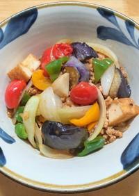 冷凍揚げなすと彩り野菜の味噌炒め