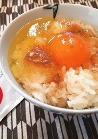ヒガシマルうどんスープで卵かけご飯♡