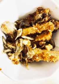 簡単舞茸とがんす焼きでがんすー。