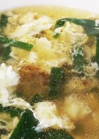 ぶっこみ☆ニラたまスープ