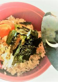 子どもの日はピーマンとひき肉の海苔パラ丼