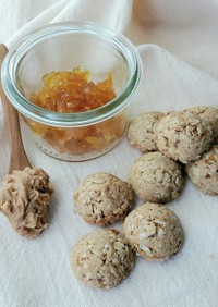 オレンジ香るオートミールピーナツクッキー