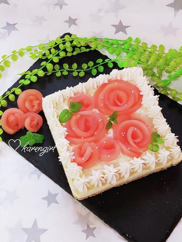 お祝いスイーツ♡生チョコチーズケーキ♡