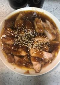 鶏モモ肉のゴマバター醤油焼き
