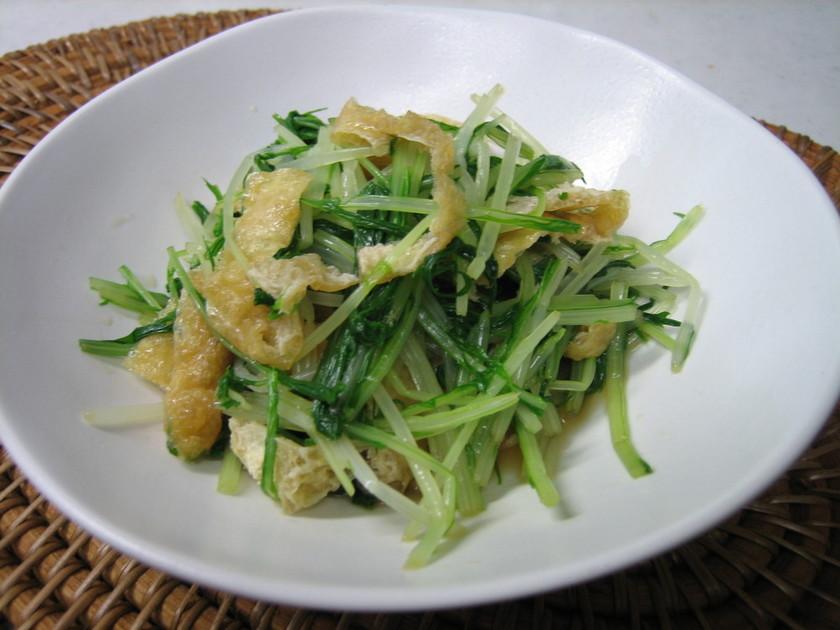 水菜と油揚げのおひたし✿