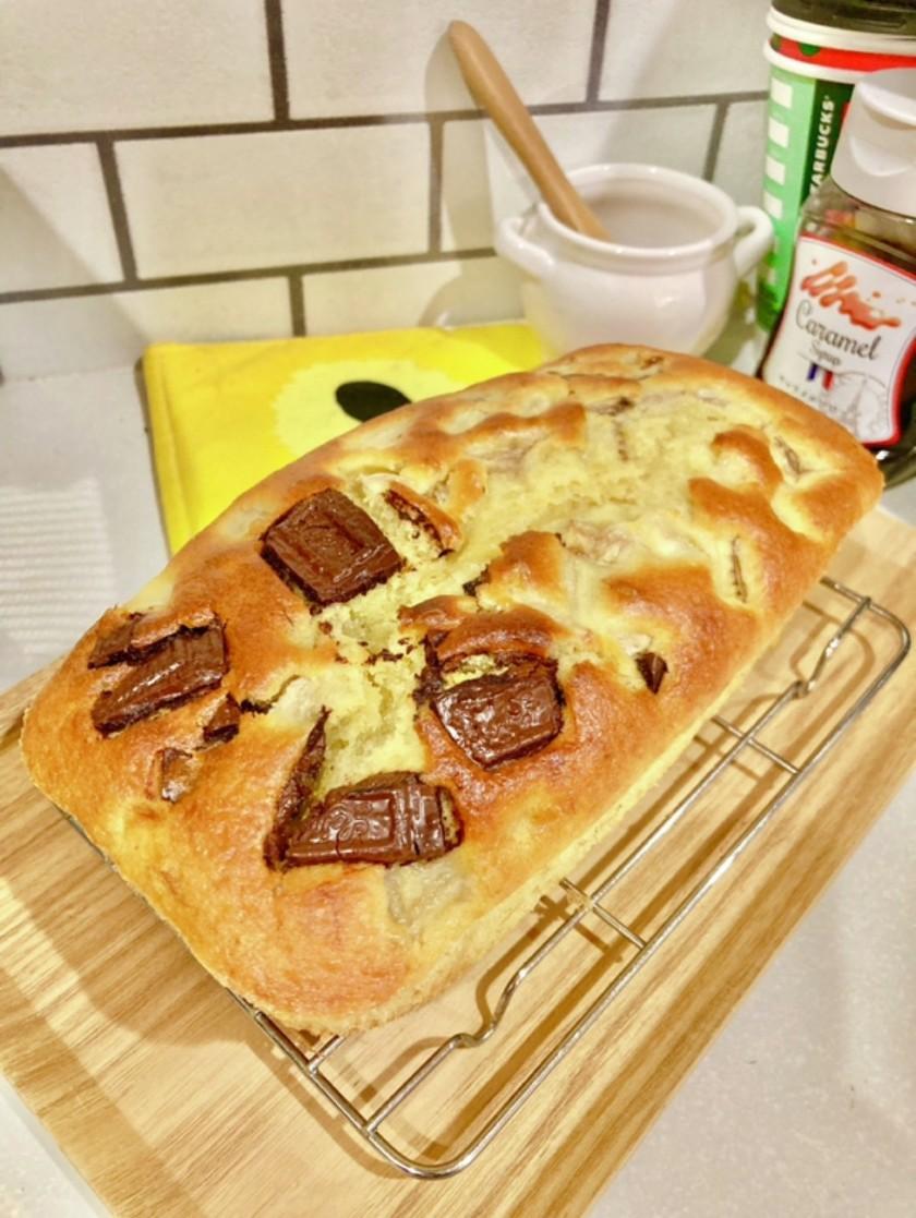 ポリ袋で簡単チョコバナナケーキ