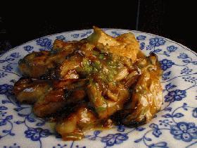 牡蠣と豆腐の中華風炒め