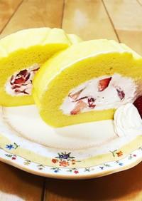 苺ロールケーキ♪乳&小麦不使用♪