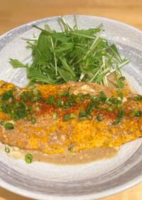 お肉と野菜のゴロゴロオムレツ