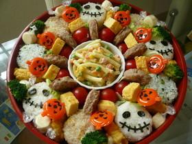 ハロウィンパーティーごはん♡寿司おけで!