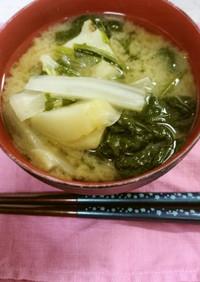 ✨ほうれん草と白菜とジャガイモの味噌汁✨