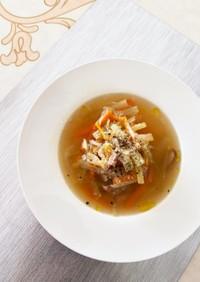 セロリたっぷり残り野菜やっつけスープ