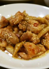 鶏モモとゴボウの甘辛煮