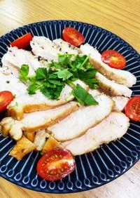 低温調理器で鶏胸肉柔らか三種盛り