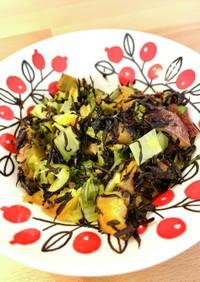 サツマイモと小松菜のひじき煮