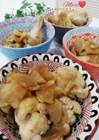 フライパンで簡単!鶏手羽元と大根の煮物