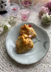 卵とサクサク天かすの納豆キムチ巾着