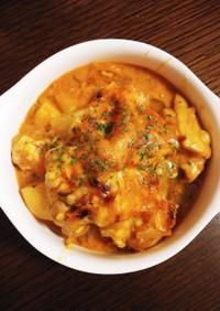 絶品鶏肉とポテトのトマトクリームグラタン