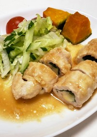 ☆簡単☆鶏胸肉の大葉チーズ巻き