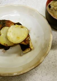 ✨鯖とジャガイモのカレー炒め&味噌汁✨
