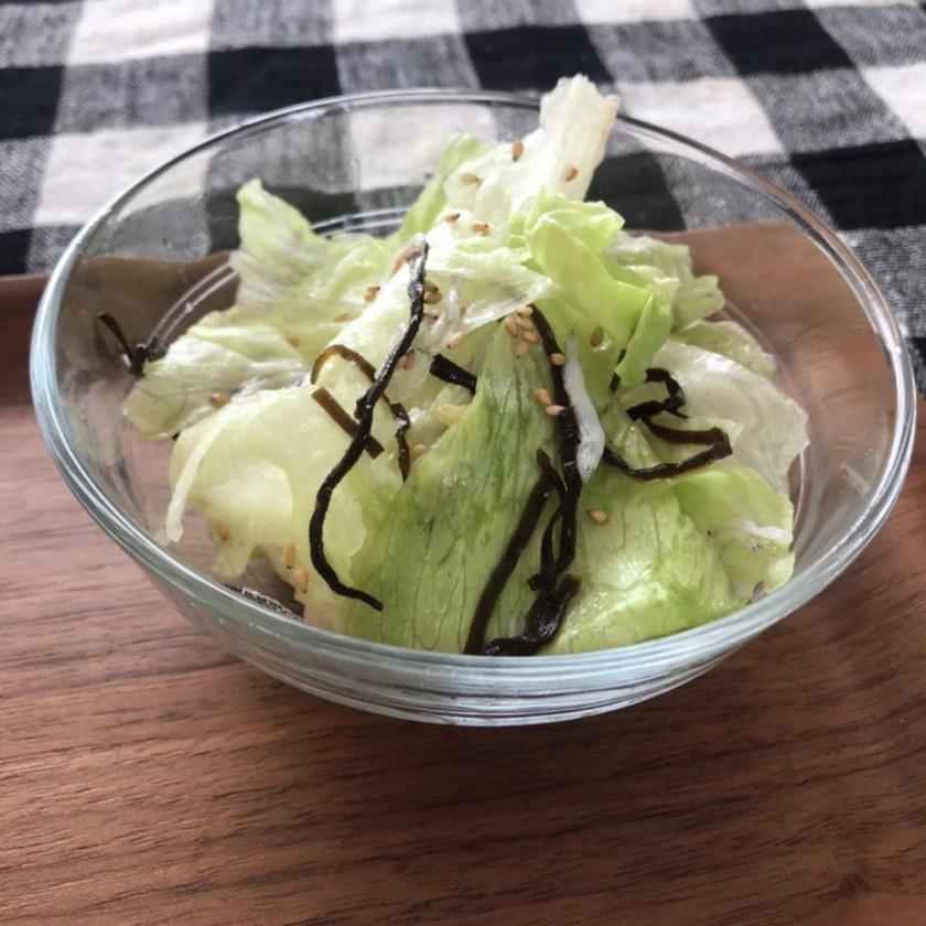パパっと5分で レタスと塩昆布のサラダ