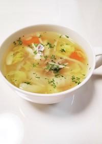 タラの野菜たっぷりスープ
