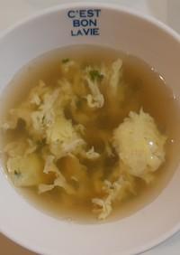 超簡単!大葉と卵のコンソメスープ
