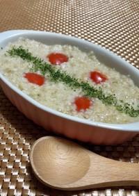鮭のオートミール粥