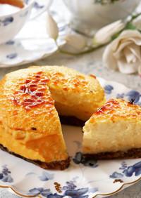 グルテンフリー♡生米の濃厚チーズケーキ