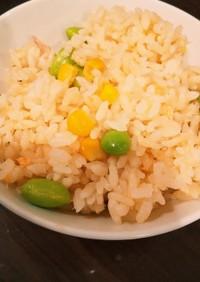 白だしで!鮭と枝豆の簡単炊き込みご飯